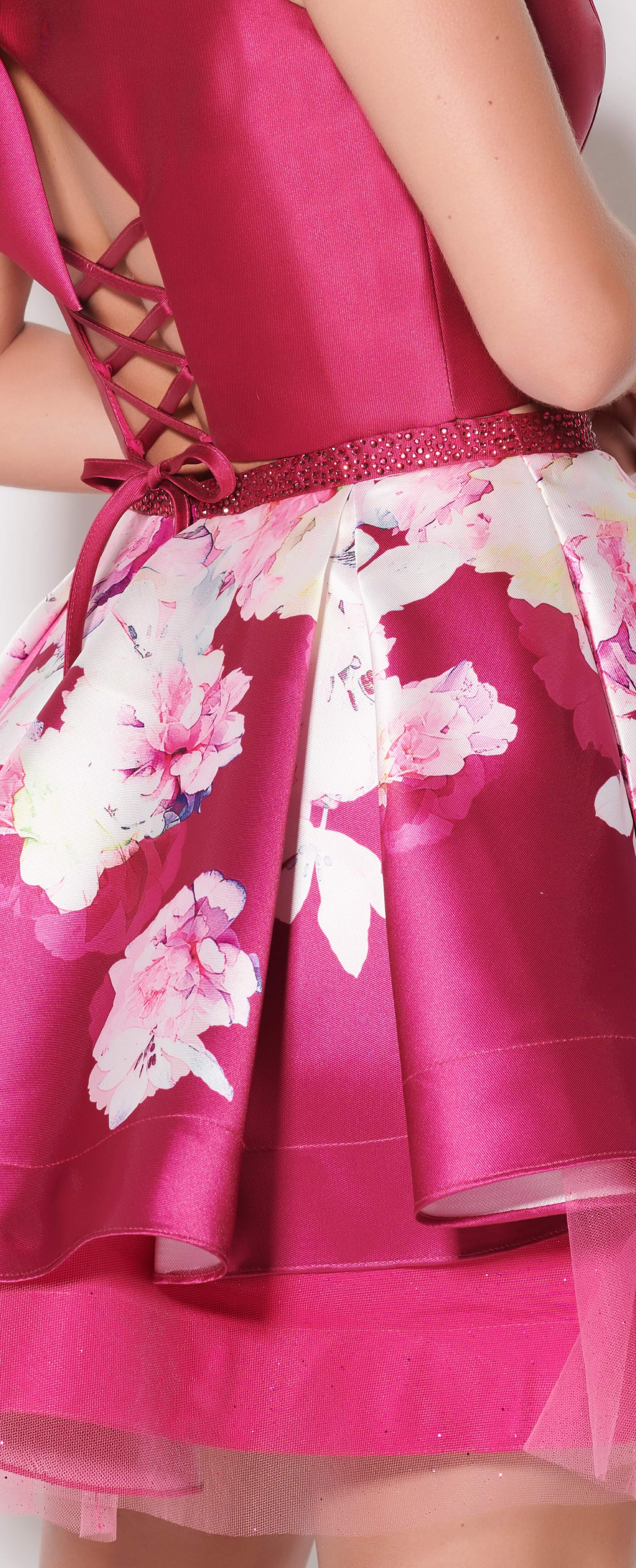 Floral dress in detail